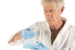 Microbiologist technician Stock Image