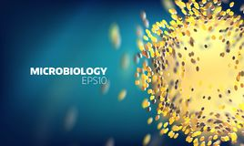 Microbiology cell explore. Molecular view. Medical technology background. Microbiology cell explore. Molecular view. Medical technology abstract background Royalty Free Stock Photography