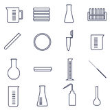 Microbiology icons Royalty Free Stock Photos