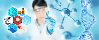 Microbiology research Stock Image