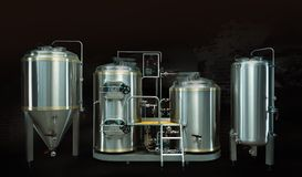 Microbrewery photo stock