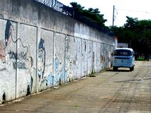 Microbus в Бразилии Сан-Паулу стоковые фото