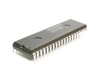 Microchip. Is isolated on the white background Stock Image