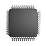 Microchip. Isolated on white background Stock Image