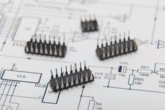 Microchip imagens de stock royalty free