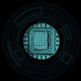 microchip Fotografering för Bildbyråer