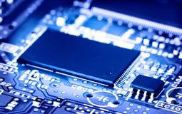 Microchip aan boord stock foto