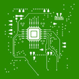 Microchip absrtact. Abstract microchip on green background royalty free illustration