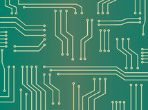Microchip abstracte achtergrond Royalty-vrije Stock Afbeeldingen