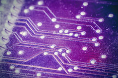 Microchip. As a background macro Royalty Free Stock Photos