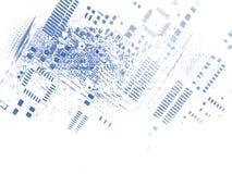 Microchip background Stock Photo
