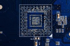Microchip background Stock Photos