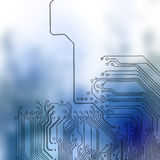 Microchip background - close-up of electronic circuit board Stock Photography