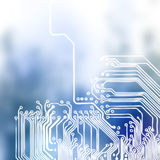Microchip background - close-up of electronic circuit board Stock Photos