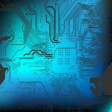 Microchip background - close-up of electronic board Stock Photos