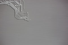 Microchip background close-up of electronic circuit board Royalty Free Stock Photo