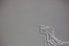 Microchip background close-up of electronic circuit board Royalty Free Stock Images
