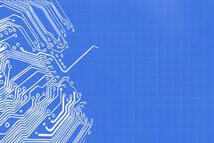 Microchip background - close-up of electronic circuit board Royalty Free Stock Photo