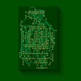 Microchip background, electronics circuit, EPS10 Royalty Free Stock Photography