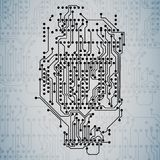 Microchip background, electronics circuit, EPS10 Stock Photos