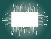Microchip banner Backgrounds Royalty Free Stock Photo