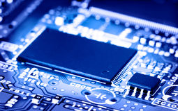 Microchip on board. Takes abstract Stock Photo