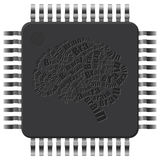 Microchip brain Stock Photos