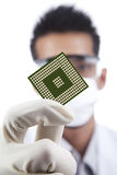 Microchip computer Stock Image