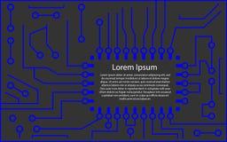 Microchip 3d background. vector illustration. Eps 10 vector illustration