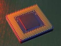 Microchip del calcolatore Fotografie Stock Libere da Diritti