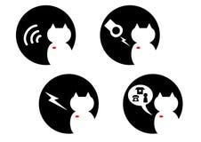 Microchip del gato Fotografía de archivo libre de regalías
