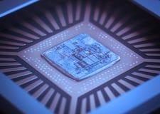 Microchip do computador Imagens de Stock Royalty Free