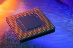 Microchip do computador Foto de Stock Royalty Free