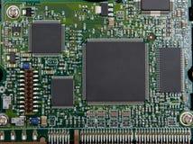 Microchip electrónico Fotografía de archivo libre de regalías