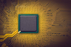 Microchip. Electronic industry parts, the microchip Stock Photography