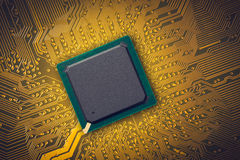 Microchip. Electronic industry parts, the microchip Royalty Free Stock Photos