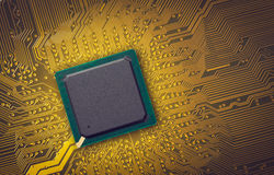 Microchip. Electronic industry parts, the microchip Royalty Free Stock Images