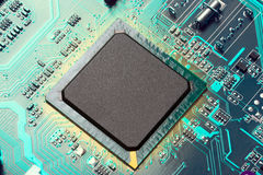 Microchip. Electronic industry parts, the microchip Stock Images