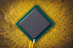 Microchip. Electronic industry parts, the microchip Stock Image