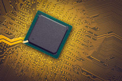 Microchip. Electronic industry parts, the microchip Stock Photo