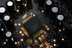 Microchip elettronico Immagine Stock