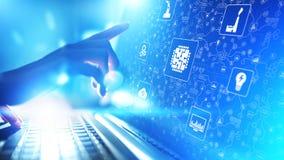Microchip, inteligência artificial, automatização e Internet das coisas IOT, integração de Digitas Conceito da tecnologia imagem de stock