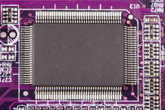 Microchip macro Stock Images