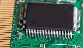 Microchip macroschot stock fotografie