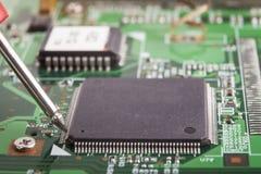 Microchip Measurment Stock Photos