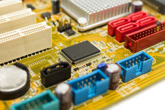 Microchip on motherboard Stock Images