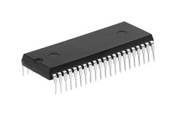 Microchip. New microchip isolated on a white background Royalty Free Stock Images