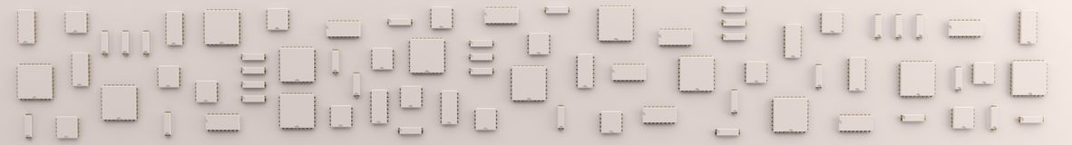 Microchip - panorama background Royalty Free Stock Photography