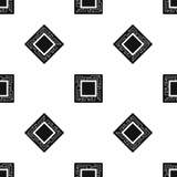 Microchip pattern seamless black Stock Photos