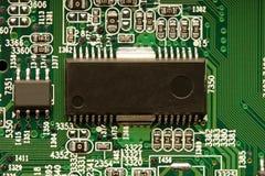 Microchip sul circuito Fotografie Stock
